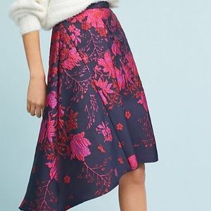 Anthropologie Eva Franco hi low hem skirt NWT 0